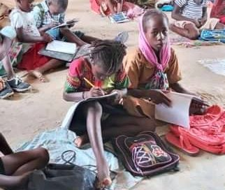 Tchad :  Des  écoliers assis à même le sol, un constat alarmant ,alerte Ndjelar Koumadji Mariam